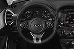 Car pictures of steering wheel view of a 2020 KIA Soul  X-Line 5 Door Hatchback