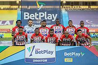 BARRANQUIILLA - COLOMBIA, 20-03-2021: Jugadores del Junior posan para una foto previo al partido por la fecha 13 de la Liga BetPlay DIMAYOR I 2021 entre Atlético Junior y Deportivo Pereira jugado en el estadio Metropolitano Roberto Meléndez de la ciudad de Barranquilla. / Players of Junior pose to a photo prior match for date 13 as part of BetPlay DIMAYOR League I 2021 between Atletico Junior and Deportivo Pereira played at Metropolitano Roberto Melendez stadium in Barranquilla city. Photo: VizzorImage / Jairo Cassiani / Cont