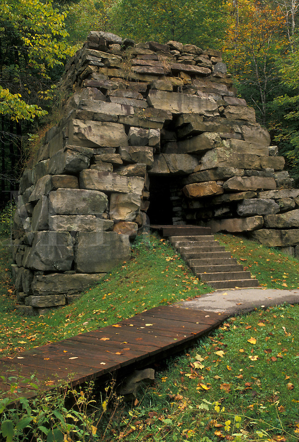 AJ4490, stone furnace, Cumberland Gap, oven, Cumberland Gap National Historical Park, Virginia, Kentucky, Iron Furnace was used to make weapons in the war in Cumberland Gap Nat'l Historical Park in the states of Virginia and Kentucky.