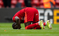 23rd May 2021; Anfield, Liverpool, England; EPL Premier League football, Liverpool versus Crystal Palace:  Liverpool's Sadio Mane celebrates after scoring the second goal in minute 74 during the Premier League match between Liverpool and Crystal Palace at Anfield
