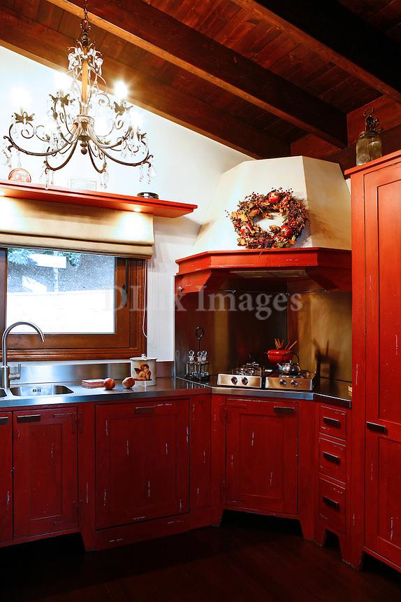 Modern rustic wooden kitchen