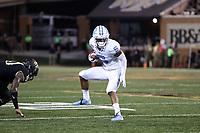WINSTON-SALEM, NC - SEPTEMBER 13: Dazz Newsome #5 of the University of North Carolina runs the ball during a game between University of North Carolina and Wake Forest University at BB