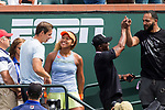 March 18, 2018: Naomi Osaka (JPN) and her team celebrate after she defeated Daria Kasatkina (RUS) 6-3, 6-2 in the Finals of the BNP Paribas Open at the Indian Wells Tennis Garden in Indian Wells, California. ©Mal Taam/TennisClix/CSM