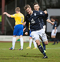 Dundee's Jim McAlister celebrates after he scores their goal.