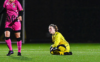 goalkeeper Ambre Collet (1) of Sporting Charleroi pictured during a female soccer game between Sporting Charleroi and SV Zulte-Waregem on the 12 th matchday of the 2020 - 2021 season of Belgian Scooore Womens Super League , friday 29 th of January 2021  in Marcinelle , Belgium . PHOTO SPORTPIX.BE | SPP | DAVID CATRY