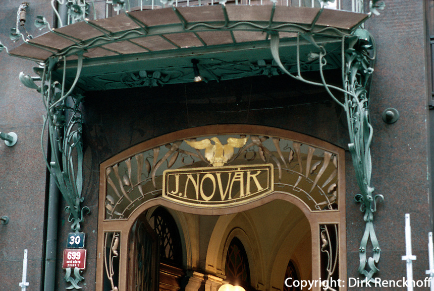 Tschechien, Prag, Jugendstilhaus U Novaku, Unesco-Weltkulturerbe