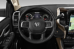 Car pictures of steering wheel view of a 2019 Ram 2500 Laramie 4 Door Pick Up