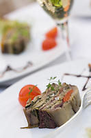 """Europe/Provence-Alpes-Côte d'Azur/83/Var/Saint-Tropez:Terrine de légumes provençale recette  de Franck Broc chef de l' Hotel-restaurant  """"La Bastide de Saint-Tropez"""""""