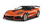 2019 Chevrolet Corvette ZR1 3 Door Targa angular front stock photos of front three quarter view