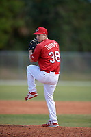 St. Louis Cardinals Spencer Trayner (38) during a minor league Spring Training game against the New York Mets on March 28, 2017 at the Roger Dean Stadium Complex in Jupiter, Florida.  (Mike Janes/Four Seam Images)