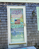 """Rainbows Everywhere"" doorway drawing by Stella Holden, Grade 4, Yarmouth, ME, USA"