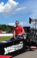 Aug. 20, 2011; Brainerd, MN, USA: NHRA top fuel dragster driver Rod Fuller during qualifying for the Lucas Oil Nationals at Brainerd International Raceway. Mandatory Credit: Mark J. Rebilas-