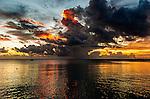 sunset in Funafuti, Tuvalu