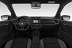 Stock photo of straight dashboard view of 2018 Skoda Fabia Monte-Carlo 5 Door Hatchback Dashboard