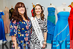 Aimee Keane (Kerry Rose Centre) and Sally Ann Leahy (2019 Kerry Rose) attending the launch of Gowns of Glory Rose of Tralee dresses through the years in the Kerry County Museum on Friday