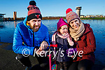 Padraig, Iarlaith and Niamh Slattery enjoying the Tralee Wetlands on Sunday.