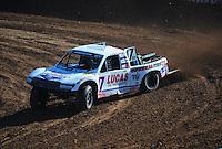 Dec. 9, 2011; Chandler, AZ, USA;  LOORRS pro 4 unlimited driver Carl Renezeder during qualifying for round 15 at Firebird International Raceway. Mandatory Credit: Mark J. Rebilas-