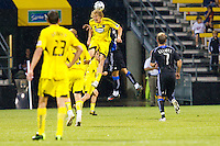 27 MAY 2009: #32 Steven Lenhart, Columbus Crew forward in action during the San Jose Earthquakes at Columbus Crew MLS game in Columbus, Ohio on May 27, 2009.