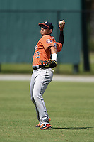 Houston Astros Alexander Melendez (22) during a minor league spring training game against the Detroit Tigers on March 25, 2015 at Tiger Town in Lakeland, Florida.  (Mike Janes/Four Seam Images)