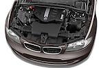 High angle engine detail of a 2004 - 2011 BMW 1-Series 118i 5 Door Hatchback 2WD.
