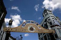 Entrance to Woolwich Market, Woolwich, southeast London, UK