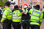 © Joel Goodman - 07973 332324 - all rights reserved . 01/05/2010 . Aylesbury , UK . The English Defence League ( EDL ) hold a demonstration in Aylesbury . Photo credit : Joel Goodman