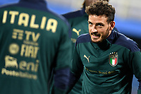 Alesssandro Florenzi of Italy warms up during the friendly football match between Italy and Moldova at Artemio Franchi Stadium in Firenze (Italy), October, 7th 2020. Photo Andrea Staccioli/ Insidefoto