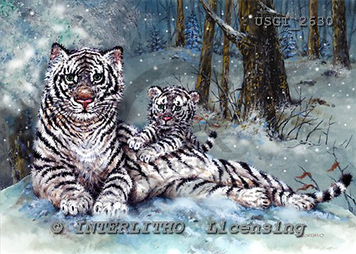 GIORDANO, CHRISTMAS ANIMALS, WEIHNACHTEN TIERE, NAVIDAD ANIMALES, paintings+++++,USGI2630,#XA#