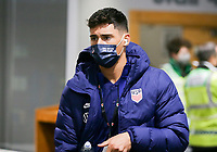 SWANSEA, WALES - NOVEMBER 12: Matt Miazga #3 of the United States men's national team arrives at Liberty stadium before a game between Wales and USMNT at Liberty Stadium on November 12, 2020 in Swansea, Wales.