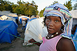 Marie Carmel Telisme remains homeless and living in a camp in Grand-Goave, Haiti, one year after January 2010 earthquake that ravaged the caribbean nation. The ACT Alliance has supported families in this camp with a variety of services, and has rebuilt a school beside the tent city.