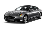 2017 Maserati Quattroporte S 4 Door Sedan angular front stock photos of front three quarter view
