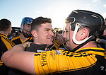 Ballyea's Paul Flanagan and Jack Browne embrace following the county senior hurling final against Cratloe at Cusack Park. Photograph by John Kelly.