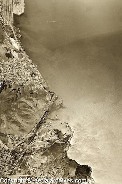 historical aerial photograph South San Francisco, San Mateo County, California, 1946