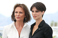 JACQUELINE BISSET AND MARINE VACTH - PHOTOCALL OF THE FILM 'L'AMANT DOUBLE' AT THE 70TH FESTIVAL OF CANNES 2017
