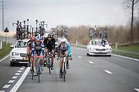 Antoine Demoitié (BEL/Wanty-Groupe Gobert) leads the breakaway<br /> <br /> E3 - Harelbeke 2016