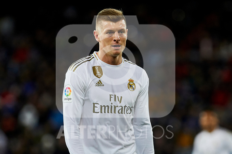 Toni Kroos of Real Madrid during La Liga match between Real Madrid and Real Sociedad at Santiago Bernabeu Stadium in Madrid, Spain. November 23, 2019. (ALTERPHOTOS/A. Perez Meca)