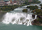 The American and Bridal Veil Falls of the Niagara Falls.