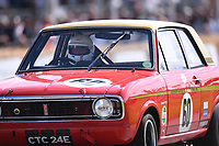 9th July 2021;  Goodwood  House, Chichester, England; Goodwood Festival of Speed; Day Two; Jon Miles drives a 1969 Ford-Lotus Cortina in the Goodwood Hill Climb