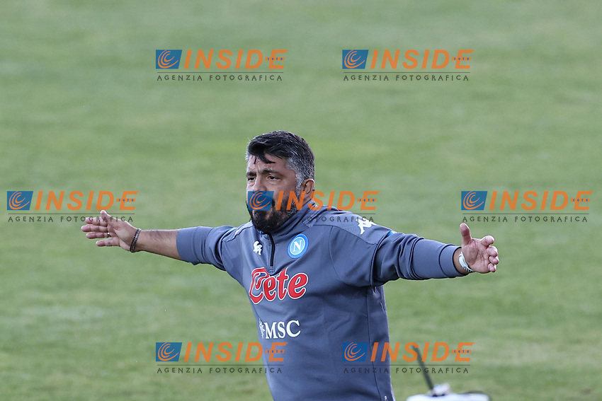 Gennaro Gattuso coach of SSC Napoli gestures<br /> during the friendly football match between SSC Napoli and SS Teramo Calcio 1913 at stadio Patini in Castel di Sangro, Italy, September 04, 2020. <br /> Photo Cesare Purini / Insidefoto