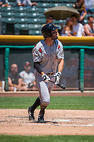Tim Wheeler (7) of the Albuquerque Isotopes at bat against the Salt Lake Bees in Pacific Coast League action at Smith's Ballpark on June 28, 2015 in Salt Lake City, Utah. The Isotopes defeated the Bees 8-3. (Stephen Smith/Four Seam Images)