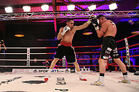 19th December 2020, Hamburg, Germany; Universal Boxing Promotion fight, Felix Sturm versus Timo Rost; Rost with a left jab to head