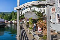 Famous Creek Street in downtown Ketchikan, southeast, Alaska.