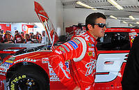 Feb 07, 2009; Daytona Beach, FL, USA; NASCAR Sprint Cup Series driver Kasey Kahne during practice for the Daytona 500 at Daytona International Speedway. Mandatory Credit: Mark J. Rebilas-