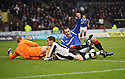 RANGERS' LEE WALLACE CELEBRATES AFTER HE SCORES RANGERS' FIRST