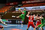23Doruk Pehlivan beim Spiel in der Handball Bundesliga, TSV GWD Minden - HSG Nordhorn-Lingen.<br /> <br /> Foto © PIX-Sportfotos *** Foto ist honorarpflichtig! *** Auf Anfrage in hoeherer Qualitaet/Aufloesung. Belegexemplar erbeten. Veroeffentlichung ausschliesslich fuer journalistisch-publizistische Zwecke. For editorial use only.