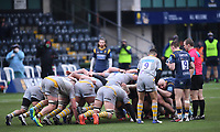 14th February 2021; Sixways Stadium, Worcester, Worcestershire, England; Premiership Rugby, Worcester Warriors versus Wasps; Gareth Simpson of Worcester Warriors prepares to feed the ball into the scrum