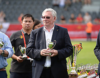 20180526 - Eupen , BELGIUM : chairman of the Belgian Football Association Gerard Linard pictured during the final of Belgian cup 2018 , a soccer women game between KRC Genk Ladies and Standard Femina de Liege  , in the  Kehrweg stadion in Eupen , saturday 26 th May 2018 . PHOTO SPORTPIX.BE | DAVID CATRY