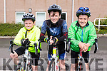 Members of Sliabh Luachra cycling club l-r Ross O'Leary, Eoin Hurley and Paudie O'Leary  at the Kerry Youth Cycling Initiative on Sunday Organised by the Kingdom  CC