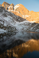 Sunrise on the Diamond from Chasm Lake, Long's Peak, Rocky Mountain National Park