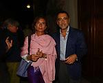 BRUNO MANFELLOTTO CON LA MOGLIE<br /> PREMIO LETTERARIO CAPALBIO 2003